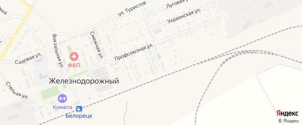 Песчаная улица на карте Белорецка с номерами домов
