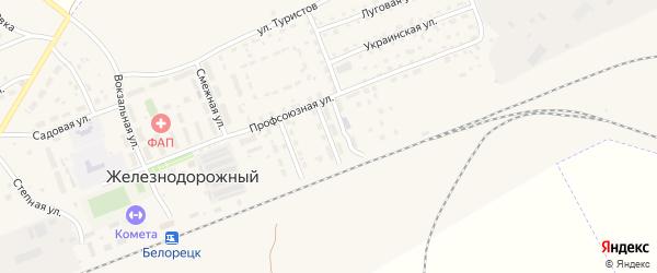 Песчаная улица на карте села Железнодорожного с номерами домов