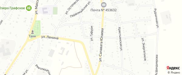 Улица М.Гафури на карте Баймака с номерами домов