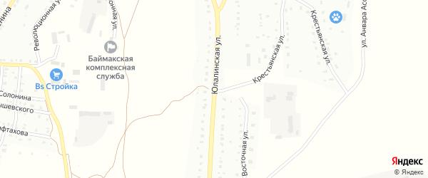 Юлалинская улица на карте Баймака с номерами домов