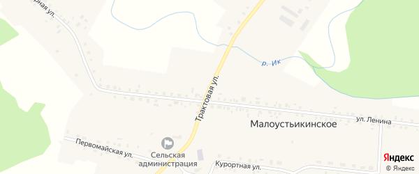 Заречная улица на карте Малоустьикинского села с номерами домов