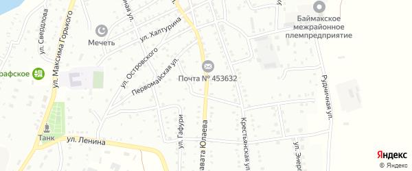 Улица Салавата Юлаева на карте Баймака с номерами домов