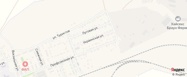 Украинская улица на карте села Железнодорожного с номерами домов