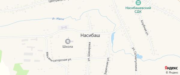 Улица Гатиятуллина на карте села Насибаша с номерами домов