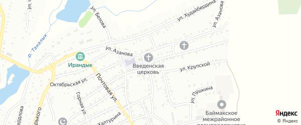 Кооперативная улица на карте Баймака с номерами домов
