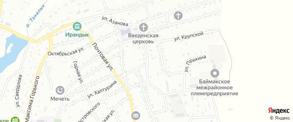 Пионерская улица на карте Баймака с номерами домов