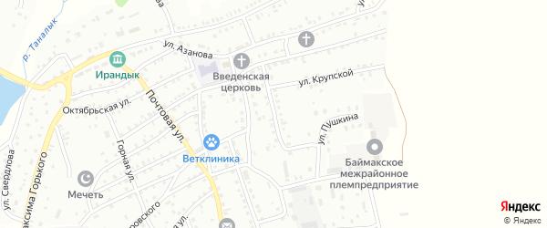 Улица А.Пушкина на карте Баймака с номерами домов