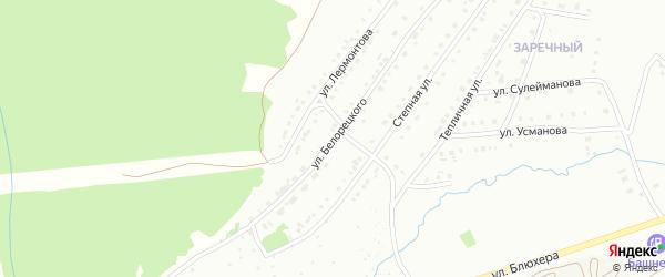 Улица Белорецкого на карте Белорецка с номерами домов