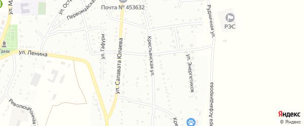 Крестьянская улица на карте Баймака с номерами домов