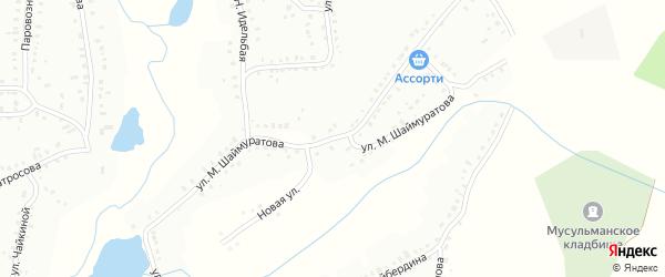 Улица М.Шаймуратова на карте Баймака с номерами домов