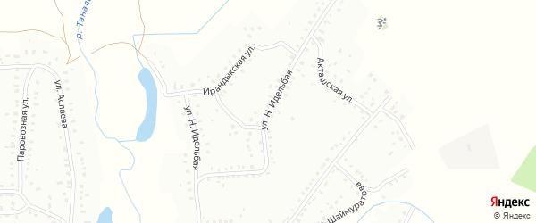 Улица Н.Островского на карте Баймака с номерами домов