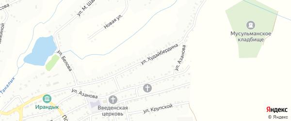 Улица Ш.Худайбердина на карте Баймака с номерами домов