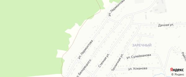 Улица Лермонтова на карте Белорецка с номерами домов