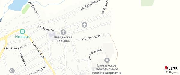 Улица Н.Крупской на карте Баймака с номерами домов