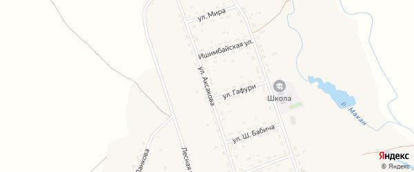 Улица Аксакова на карте села Макана с номерами домов