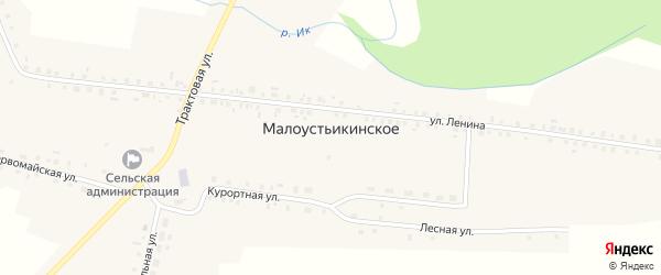 Школьная улица на карте Малоустьикинского села с номерами домов