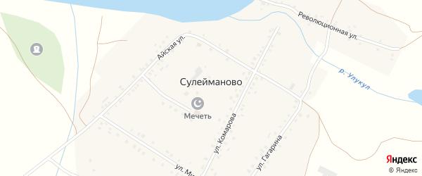 Улица Комарова на карте деревни Сулейманово с номерами домов