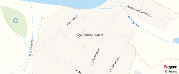 Улица Гагарина на карте деревни Сулейманово с номерами домов