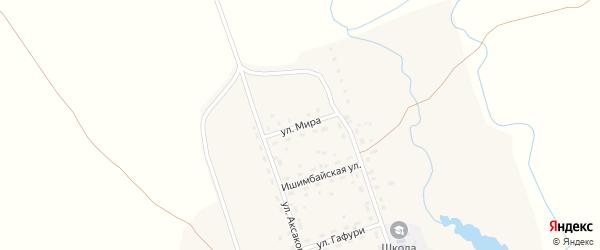 Улица Мира на карте села Макана с номерами домов