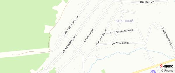 Степная улица на карте Белорецка с номерами домов