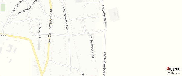 Улица Энергетиков на карте Баймака с номерами домов