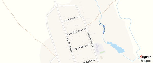 Ишимбайская улица на карте села Макана с номерами домов