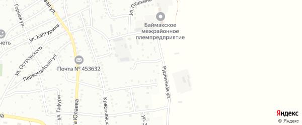 Рудничная улица на карте Баймака с номерами домов