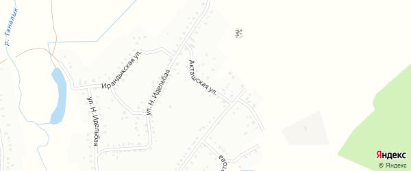 Акташская улица на карте Баймака с номерами домов