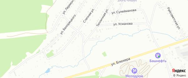 Улица Иноземцева на карте Белорецка с номерами домов