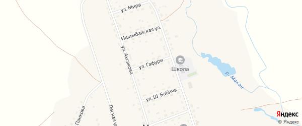 Улица Гафури на карте села Макана с номерами домов