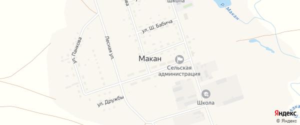 Улица Им Панкова на карте села Макана с номерами домов