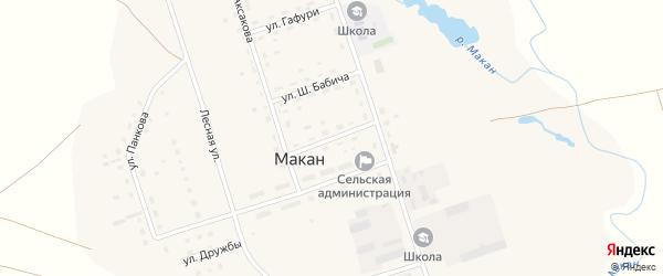 Улица Гагарина на карте села Макана с номерами домов