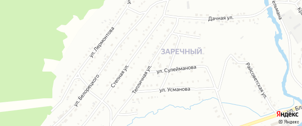 Тепличная улица на карте Белорецка с номерами домов