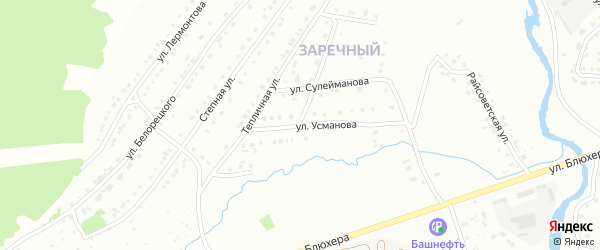 Улица Усманова на карте Белорецка с номерами домов