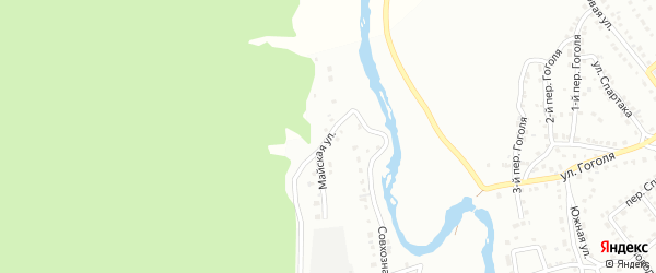 Майская улица на карте Белорецка с номерами домов