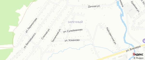 Улица Сулейманова на карте Белорецка с номерами домов