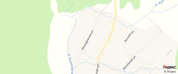 Молодежная улица на карте села Бурангулово с номерами домов