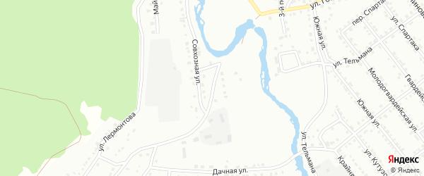 Совхозный переулок на карте Белорецка с номерами домов
