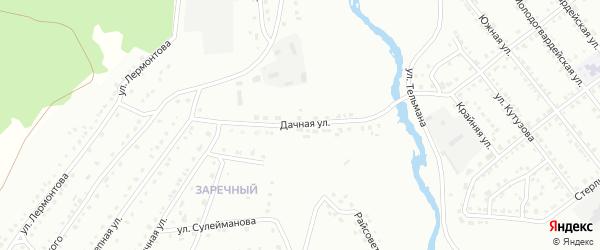 Дачная улица на карте деревни Корпусты с номерами домов