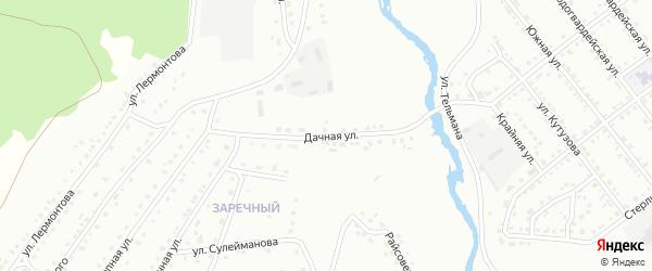 Дачная улица на карте Белорецка с номерами домов