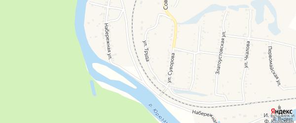 Улица Суворова на карте поселка Вязовой с номерами домов