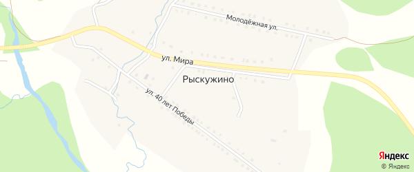 Южная улица на карте деревни Рыскужино с номерами домов