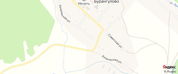 Кизильская улица на карте села Бурангулово с номерами домов