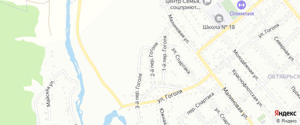 Гоголя 2-й переулок на карте Белорецка с номерами домов