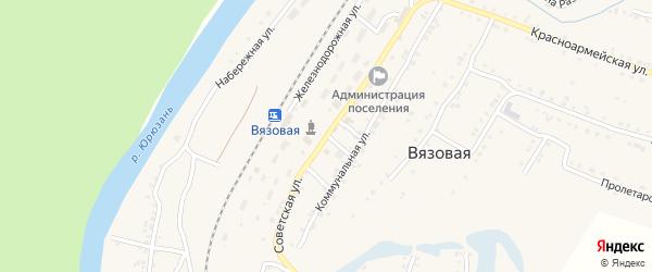 Советская улица на карте поселка Вязовой с номерами домов