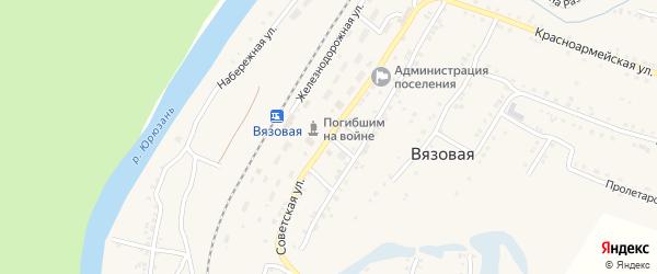 Советская улица на карте железнодорожной станции Минки с номерами домов