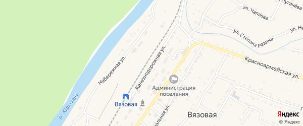 Железнодорожная улица на карте железнодорожной станции Минки с номерами домов