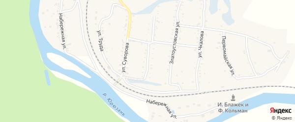 Златоустовская улица на карте поселка Вязовой с номерами домов