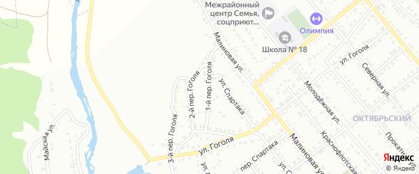 Гоголя 1-й переулок на карте Белорецка с номерами домов