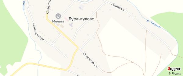 Улица Салавата Юлаева на карте села Бурангулово с номерами домов